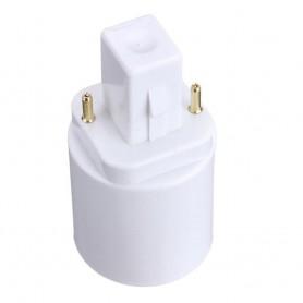 NedRo - G24 to E27 Base Converter Adapter - Light Fittings - AL088 www.NedRo.us