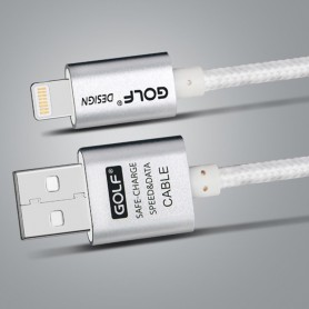 GOLF - Kabel voor iPhone 6 Plus 5 5S iPad 4 Air 2 - iPhone datakabels - AL617 www.NedRo.nl