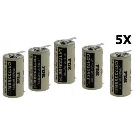 OTB - FDK CR17335SE-T1 lithiumbatterij 3V 1800mAh - met soldeerlippen - Andere formaten - ON1340-5x www.NedRo.nl