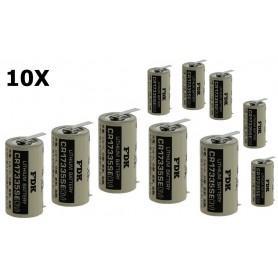 OTB - FDK CR17335SE-T1 lithiumbatterij 3V 1800mAh - met soldeerlippen - Andere formaten - ON1340-10x www.NedRo.nl
