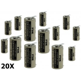 OTB, FDK Battery CR17335SE-T1 Lithium 3V 1800mAh - With Soldering Tag, Other formats, ON1340-CB, EtronixCenter.com