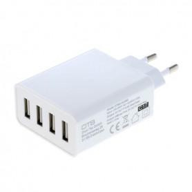 4-Port 100-250V 5.0A Multi USB-adapter met AUTO-ID wit