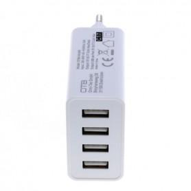 OTB, 4-Port 100-250V 5.0A Multi USB-adaptor cu AUTO-ID Alb, Porturi si huburi, ON4625, EtronixCenter.com