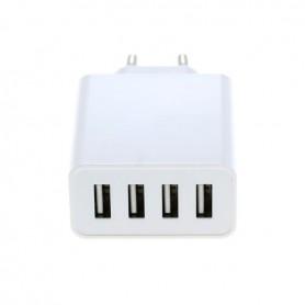 OTB - 4-Port 100-250V 5.0A Multi USB-adapter met AUTO-ID wit - Ports en Hubs - ON4625-C www.NedRo.nl
