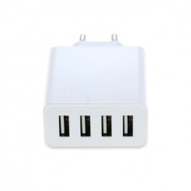 OTB - 4-Port 100-250V 5.0A Multi USB-adaptor cu AUTO-ID Alb - Porturi si huburi - ON4625-C www.NedRo.ro