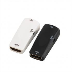 HDMI Female to VGA Female converter adapter + audio