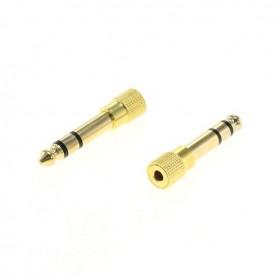 3.5mm naar 6.5mm Audio Jack adapter converter (2 stuks)