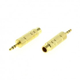 OTB - OTB 6,35MM TO 3,5MM STEREO JACK ADAPTER GOLD PLATED x2 Pcs - Audio adapters - ON4638
