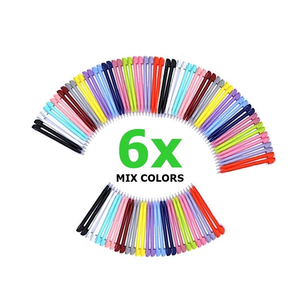 6 x Stylus Pen voor Nintendo DS Lite - Mixed Colors