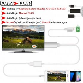 NedRo - MHL naar HDMI Samsung S6 S6 Edge Note 5 Huawei P8 P9 - Samsung datakabels - AL574 www.NedRo.nl
