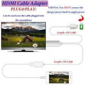NedRo - MHL naar HDMI Samsung S6 S6 Edge Note 5 Huawei P8 P9 - Telefoon houders - AL574-CB www.NedRo.nl