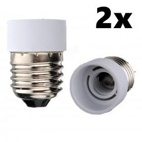 NedRo - E27 to E14 Socket Converter Adapter - Light Fittings - LCA20-2x-C www.NedRo.us