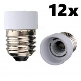 NedRo - E27 naar E14 Fitting Omvormer - Lamp Fittings - AL075-12x www.NedRo.nl