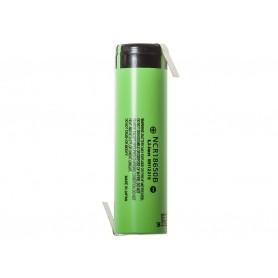 Panasonic - Panasonic 3350mAh NCR18650B 3.7V 6.7A battery - Size 18650 - NK254-12x www.NedRo.us