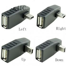 NedRo - Mini USB Male naar USB Female Haakse Adapter - USB adapters - AL566-C www.NedRo.nl