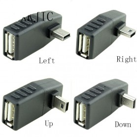 NedRo, Mini USB Male naar USB Female Haakse Adapter, USB adapters, AL569-CB, EtronixCenter.com