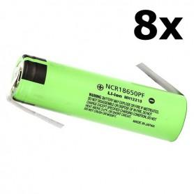 Panasonic - Panasonic battery NCR18650PF 10A 18650 2900mAh - Size 18650 - NK256-8x www.NedRo.us
