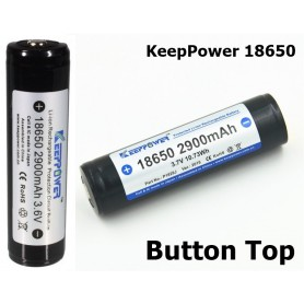 KeepPower - KeepPower 18650 2900mAh rechargeable battery - Size 18650 - NK073-CB www.NedRo.us