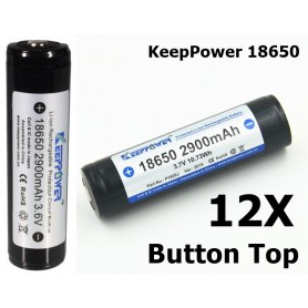 KeepPower - KeepPower 18650 2900mAh rechargeable battery - Size 18650 - NK073-12X www.NedRo.us