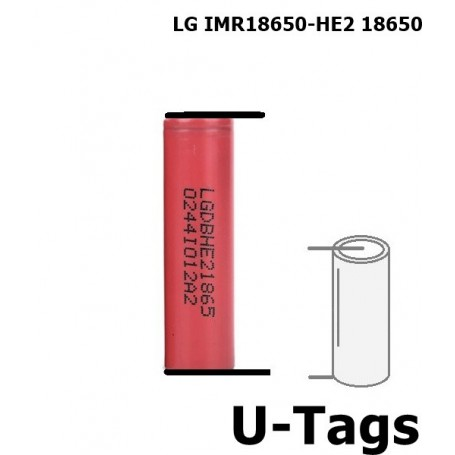 LG, LG IMR18650-HE2 18650 Rechargeable battery, Size 18650, NK077-CB