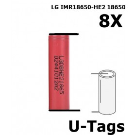 LG - LG IMR18650-HE2 18650 Rechargeable battery - Size 18650 - NK259-8x www.NedRo.us