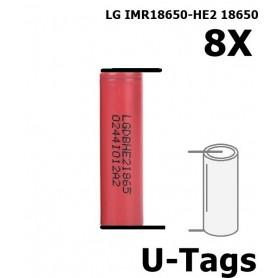 LG - LG IMR18650-HE2 18650 Oplaadbaar - 18650 formaat - NK259-8x www.NedRo.nl