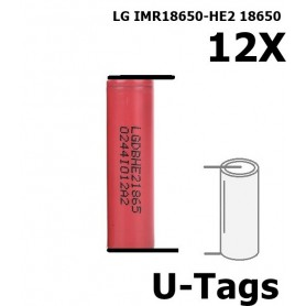 LG - LG IMR18650-HE2 18650 Rechargeable battery - Size 18650 - NK259-12x www.NedRo.us