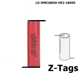 LG - LG IMR18650-HE2 18650 Rechargeable battery - Size 18650 - NK258 www.NedRo.us