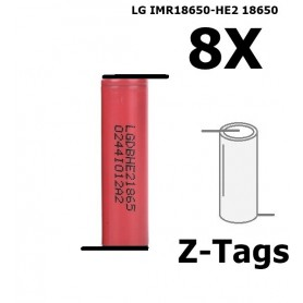 LG - LG IMR18650-HE2 18650 Rechargeable battery - Size 18650 - NK258-8x www.NedRo.us