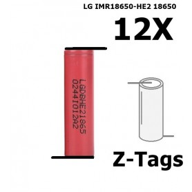 LG - LG IMR18650-HE2 18650 Rechargeable battery - Size 18650 - NK258-12x www.NedRo.us
