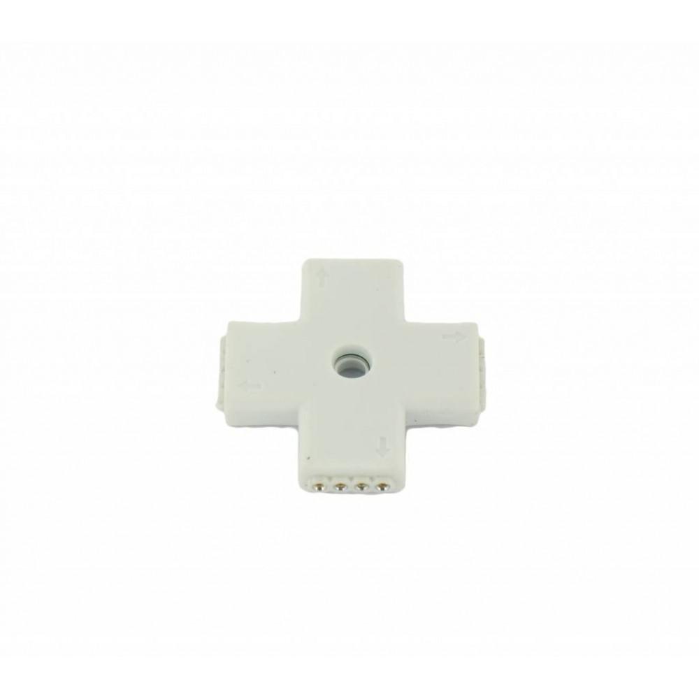 NedRo - RGB Splitter 4 Hoeken Connector - LED connectors - LED06028 www.NedRo.nl