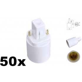 NedRo - G24 to E27 Base Converter Adapter - Light Fittings - AL088-50x www.NedRo.us