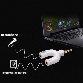 NedRo, 3.5mm Audio Jack Mic & Headphone Adapter verdeler, Audio adapters, AL547-CB, EtronixCenter.com