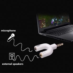 NedRo - 3.5mm Audio Jack Mic & Headphone Adapter verdeler - Audio adapters - AL547-BL www.NedRo.nl