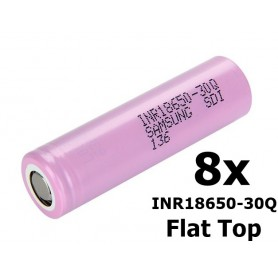 Samsung - Samsung INR18650-30Q 3000mAh - 15A - 18650 formaat - NK301-8X www.NedRo.nl
