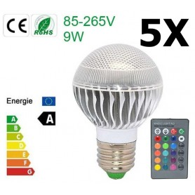 NedRo, Oferta Bec LED 9W E27 RGB cu telecomanda CG007, E27 LED, CG007-CB, EtronixCenter.com