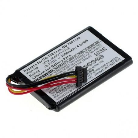OTB - Battery for TomTom Go 740 Live / 750 Live 1100mAh - Navigation batteries - ON1841