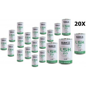SAFT - SAFT LSH 20 D-Format lithium battery 3.6V 13000mAh - Size C D 4.5V XL - NK103-CB www.NedRo.us