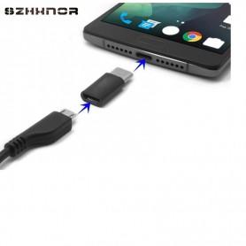 OTB - Adapter Micro-USB 2.0 Female to USB Type C (USB-C) M - USB adapters - ON3109 www.NedRo.us
