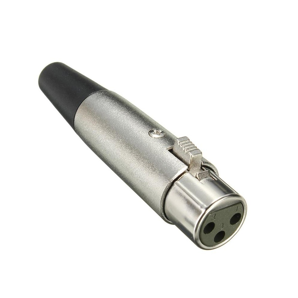 NedRo - 6mm 3 Pin XLR Jack Female-Adapter For Microphone Speaker 18AWG Cable Silver - Adaptoare VGA - AL889 www.NedRo.ro
