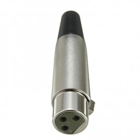 NedRo - 6mm 3 Pin XLR Jack Female-Adapter For Microphone Speaker 18AWG Cable Silver - Audio adapters - AL889 www.NedRo.us