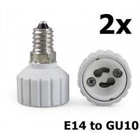 NedRo - E14 to GU10 Socket Converter - Light Fittings - AL492-2x www.NedRo.us