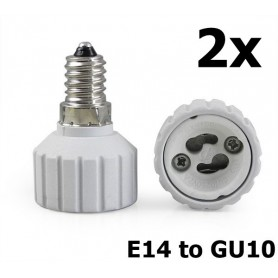 NedRo - E14 naar GU10 Fitting Omvormer - Lamp Fittings - LCA03-CB www.NedRo.nl