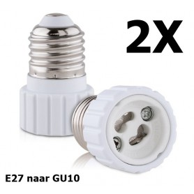 NedRo - E27 to GU10 converter adapter - Light Fittings - LCA21-CB
