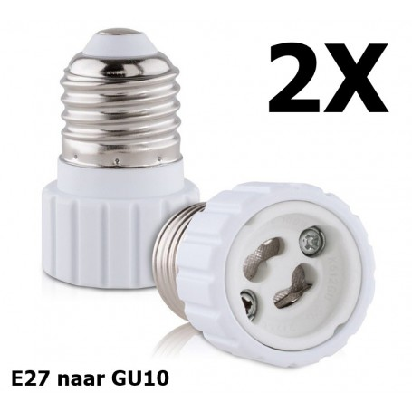 NedRo - E27 naar GU10 converter - Lamp Fittings - AL972-CB www.NedRo.nl