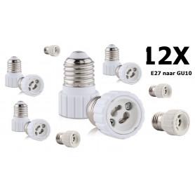 NedRo - E27 naar GU10 converter - Lamp Fittings - AL972-12x www.NedRo.nl