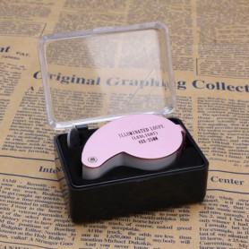 NedRo - 40x-zoom Lupă metal cu lumină LED inclusiv 3 baterii - Lupe și Microscoape - AL490-C-CB www.NedRo.ro