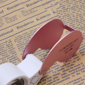 NedRo - 40x-zoom Jewelry Loupe Magnifier with LED Light - Magnifiers microscopes - AL487-C www.NedRo.us