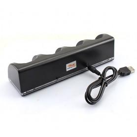 NedRo - Stație de încărcare USB cu 4 baterii pentru controlere Wii - Nintendo Wii - AL753-CB www.NedRo.ro