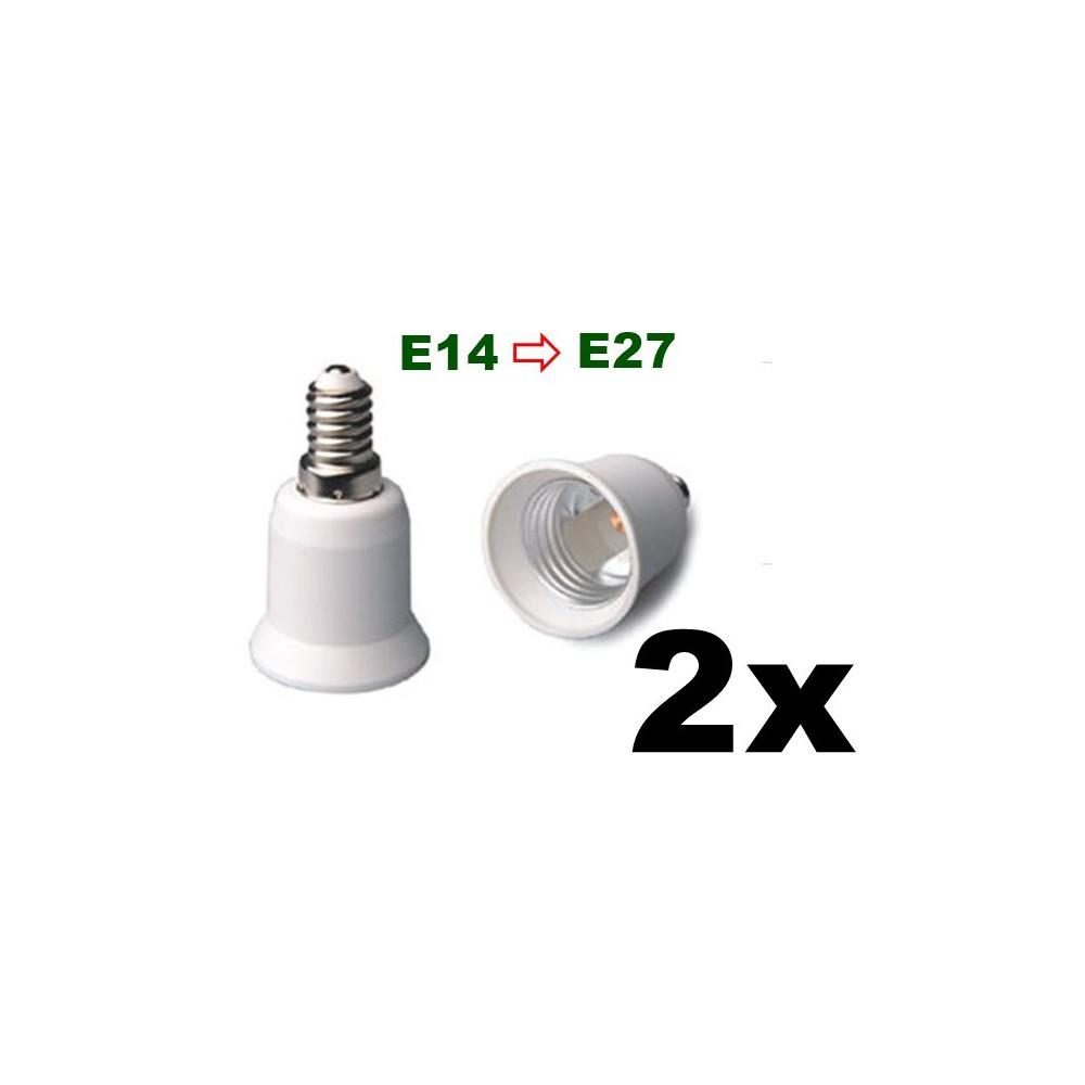NedRo - E14 to E27 Socket Converter 06088 - Corpuri de iluminat - 06088-2x www.NedRo.ro